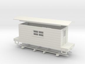 HOn30 logging caboose 3 in White Natural Versatile Plastic