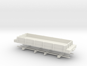 HOn30 24 ft lowsided gondola in White Natural Versatile Plastic