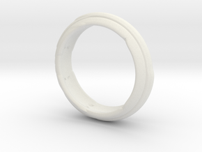 Modern Ring in White Natural Versatile Plastic