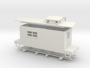 HOn30 logging caboose 4 in White Strong & Flexible