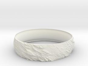 Ring Rock in White Natural Versatile Plastic