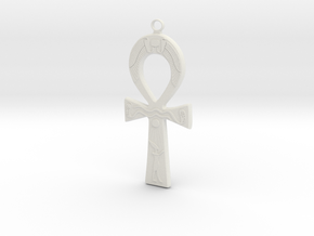 Ankh in White Natural Versatile Plastic