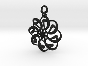 Twisted earring... or pendant in Black Strong & Flexible