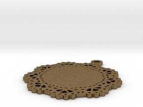 Design for pendant/earring - SK0030B in Natural Bronze
