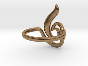 Seed Ring in Natural Brass