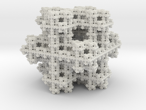 Koch Snowflake sponge in White Strong & Flexible