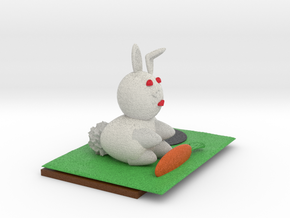 Bunny And Hole in Full Color Sandstone