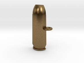 .50AE Bullet Pet Tag / Key Fob in Natural Bronze