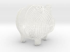 Circles Small in White Processed Versatile Plastic