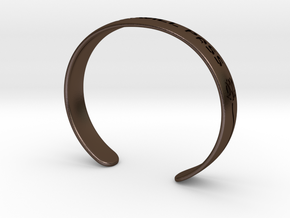 This Too Will Pass Bracelet Ver 2 in Polished Bronze Steel