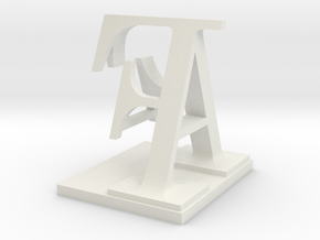 Two way letter / initial A&F in White Natural Versatile Plastic