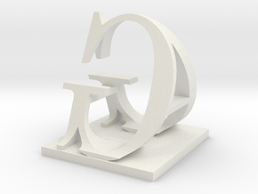 Two way letter / initial A&G in White Natural Versatile Plastic