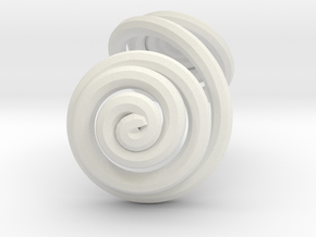 Swirl (11) in White Natural Versatile Plastic