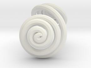 Swirl (11) in White Natural Versatile Plastic