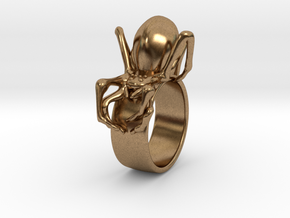 Black Widow Ring - 18 mm in Natural Brass