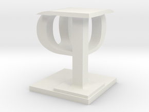 Two way letter / initial P&P in White Natural Versatile Plastic