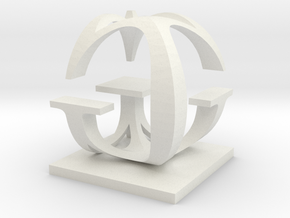 Two way letter / initial G&G in White Natural Versatile Plastic