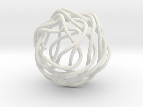 Swirl (18) in White Natural Versatile Plastic