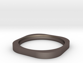 Bohan Ring Slim in Polished Bronzed Silver Steel