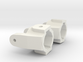C-Hub for Axial SCX10 with XR10 GPM knuckles & XR1 in White Strong & Flexible