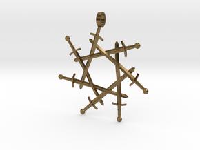 Seven-pointed Swordlock Pendant in Natural Bronze