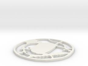 Tsuba Ver.2 - Open in White Natural Versatile Plastic