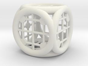 Circle Squared in White Natural Versatile Plastic