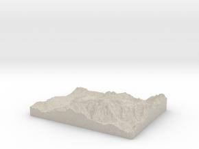 Model of Les Gens in Sandstone