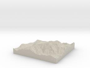 Model of Les Gens in Natural Sandstone