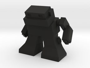 "Robot 0041 Mech Bot v2 1.75"" tall in Black Strong & Flexible"