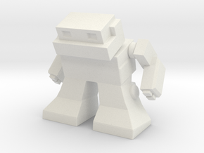 "Robot 0041 Mech Bot v2 1.75"" tall in White Natural Versatile Plastic"