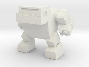 Robot 0042 Mech Bot v1 Bulldog in White Strong & Flexible