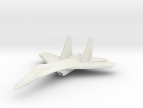 1/285 (6mm) SU-27 Flanker in White Natural Versatile Plastic
