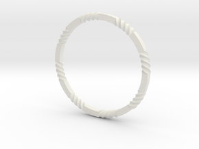 Razor bangle in White Natural Versatile Plastic