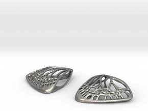 Butterfly Earrings (S)  in Natural Silver