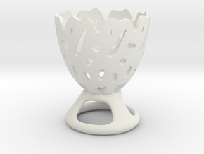 Decorative Eggcup in White Natural Versatile Plastic