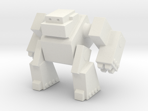 Robot 0043 Mech Bot Big Gun Arms in White Natural Versatile Plastic