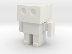 Robot 0047 Basic Robot in White Natural Versatile Plastic