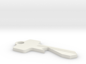 Beer Key in White Natural Versatile Plastic