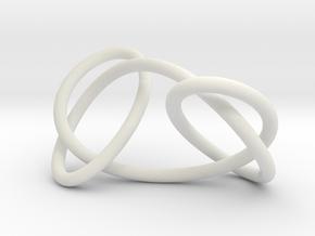 Granny knot, 6cm version in White Natural Versatile Plastic