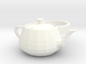 3ds Max Tea Pot ring in White Processed Versatile Plastic