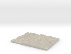 Model of Slate Creek in Natural Sandstone