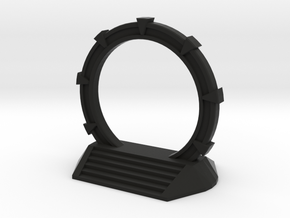 Gate Game Token (4cm) in Black Natural Versatile Plastic