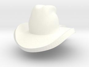 cowboy hat mini in White Processed Versatile Plastic