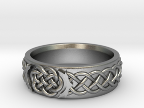 Celtic Wedding Knot Ring in Natural Silver: 5 / 49