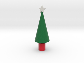Xmas Tree with star in Full Color Sandstone
