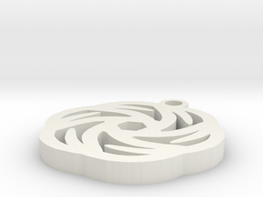 Rose Pendant - Image Popper in White Natural Versatile Plastic