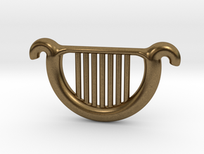 Goddess's Harp in Natural Bronze