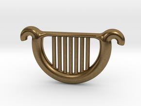 Goddess's Harp in Natural Bronze