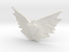 heart takes flight in White Natural Versatile Plastic